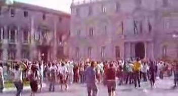 First Flash Mob. Catania, Italy.